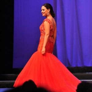 Sherri Hill Couture Red Pageant Mermaid